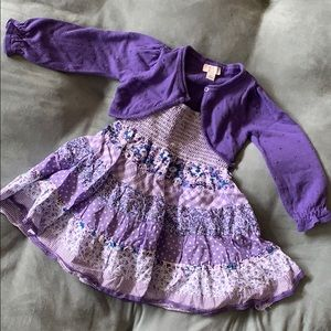 The Children's Place Girls Dress & Cardigan (3T)